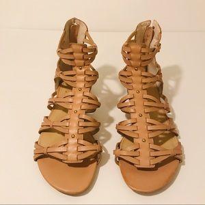 Ivanka Trump Cream Leather Sandals